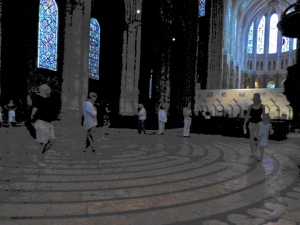 The labyrinth in the Cathedral at Chartres